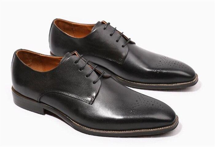 De Tallados Zapatos Brogue Vestido Cuero Negocio Británico chocolate A Cordón Negro Derby Fósforo Pie Hecho Del Toallita Todo Dedo Mano qq4xS6ng