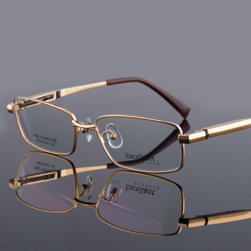 Vazrobe large (147-156mm) titane pur lunettes hommes 15.2g lunettes pour hommes dioptrie/myopie Prescription lunettes qualité