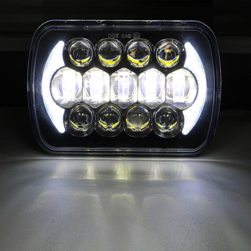 5 x 7 7x6 Inch LED Rectangular LED Headlight H6054 H5054 H6054LL 69822 6052 6053 for