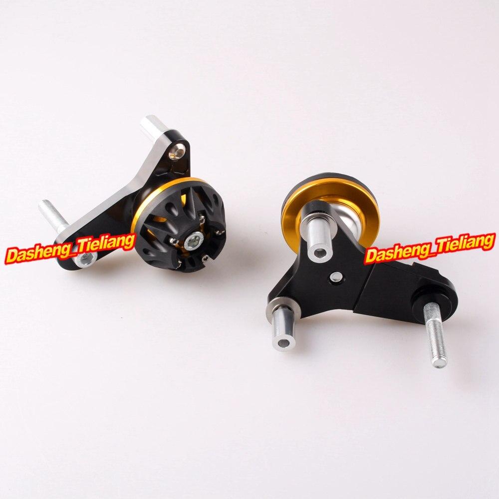 For Suzuki GSXR 600 750 Frame Sliders Crash Pads Protector 2011 2012 2013 CNC Aluminum Alloy, Gold