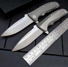 EDC Tools Maker 1 design Original ceramic ball bearing Flipper folding knife VG-10 TC4 Titanium handle camping hunting knife(China (Mainland))