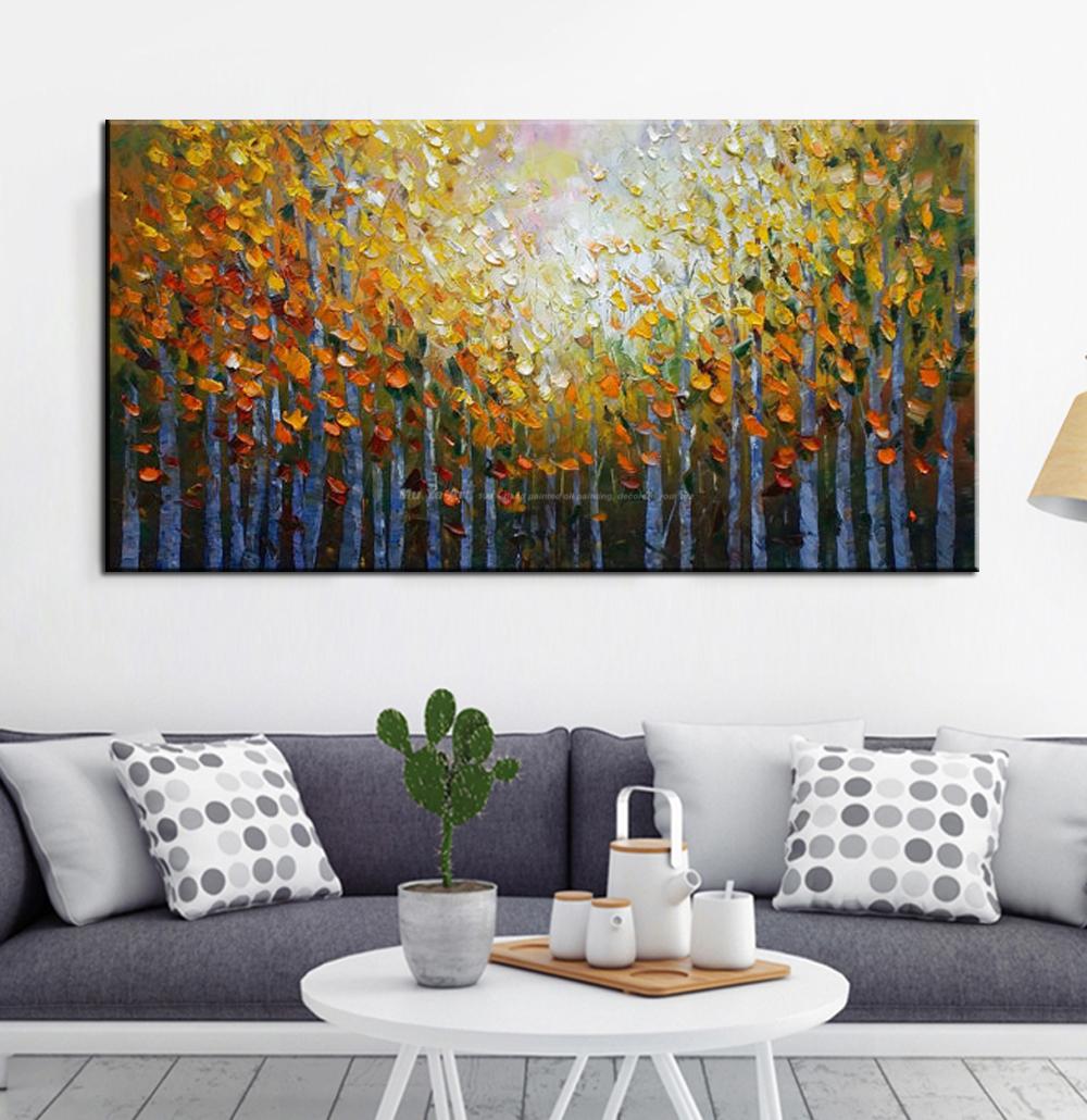 0c28b5a945bc6 Nazwa produktu:Akrylowe malarstwo krajobraz nowoczesne obrazy na ścianie  salonu zdjęcia drzewo malarstwo abstrakcyjne malarstwo olej na płótnie  handmade