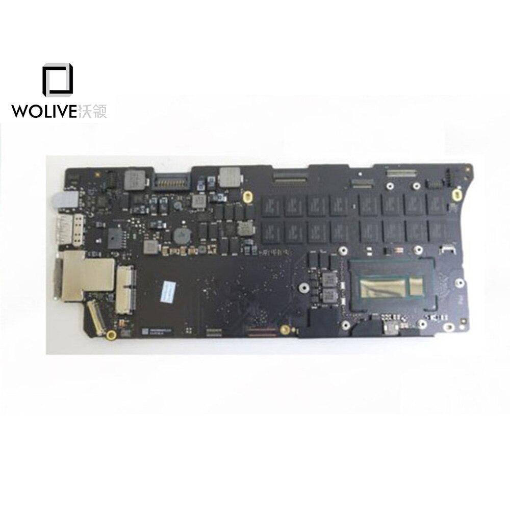 Оригинальный работает хорошо ноутбук материнскую плату разъемы для MacBook Pro Retina 13 ''A1502 2015 i5 2.7 ГГц 8 ГБ оперативная память 820 4924 A