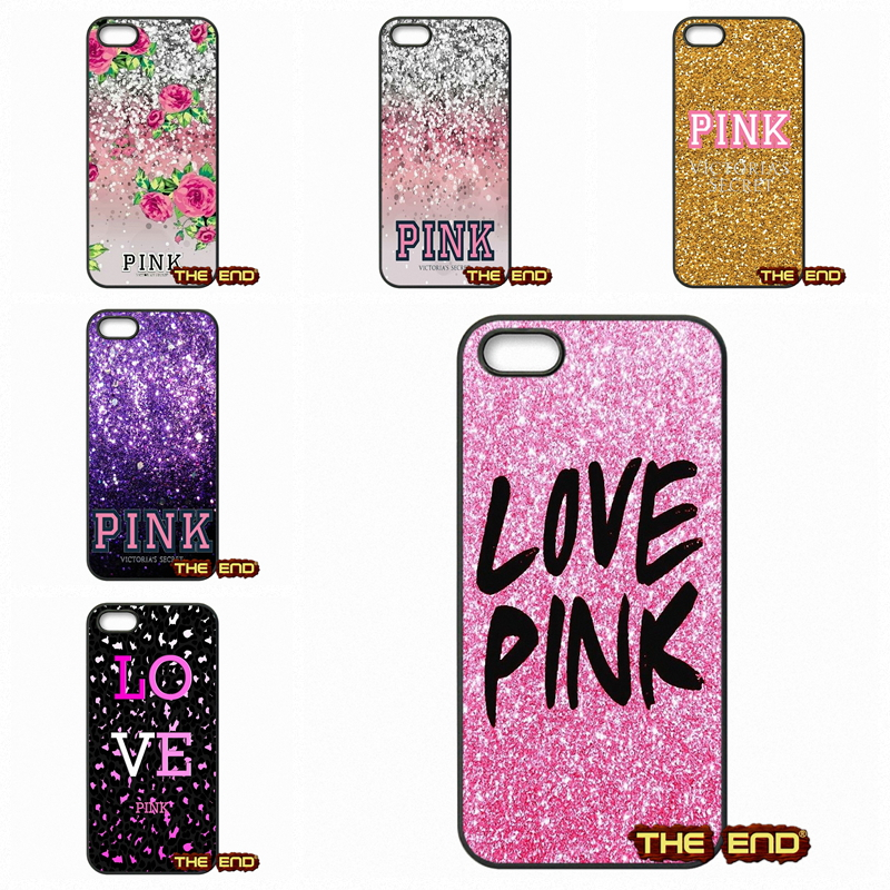 Cute Victoria' s Secret Pink Mobile Phone Cases Covers For Apple iPod Touch 4 5 6 iPhone 4 4S 5 5C SE 6 6S Plus 4.7 5.5