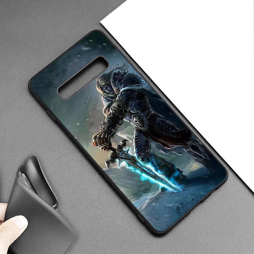Wows World of Warcraft أسود سيليكون حقيبة لهاتف سامسونج جالاكسي M20 S10e S10 S9 M10 S8 Plus 5G S7 S6 Edge غطاء Coque