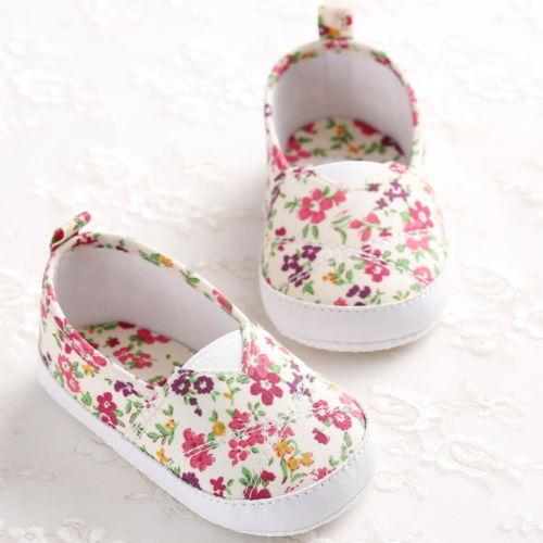 Kids Baby Girl Soft Sole Floral Shoes Toddler Infant Girls Anti Slip Sneaker Shoes Prewalker Spring Summer Autumn 0-18M