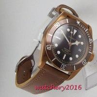 2018 Новое поступление 41 мм Corgeut бронзовое покрытие чехол сапфир люксовый бренд Супер Светящиеся Miyota автоматические мужские часы