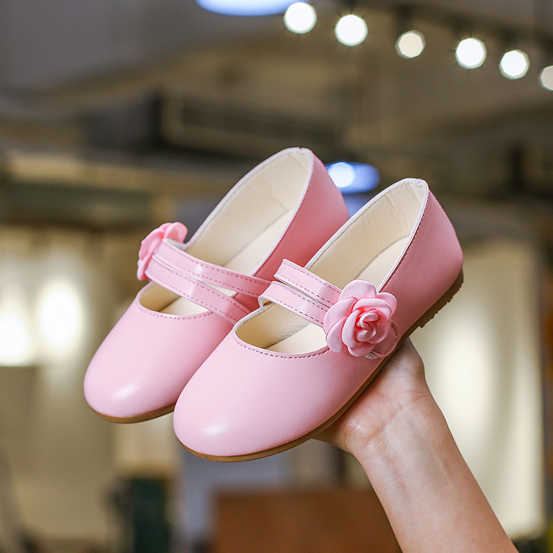Kids Girls Shoes Flower Leather Shoes