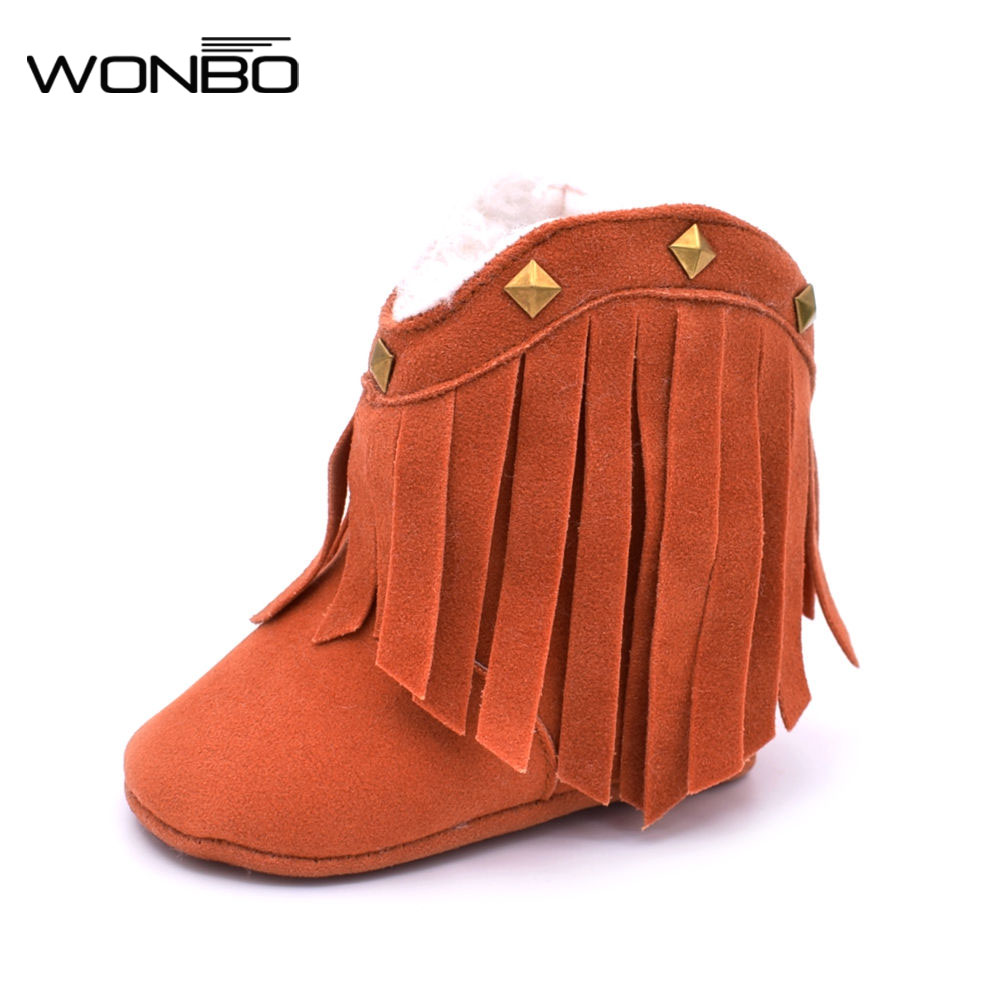Baby Soft High Ankle Snow Boots Toddler Boys Girls Winter Warm First Walker Kids Cotton Moccasins First Sneaker Shoes