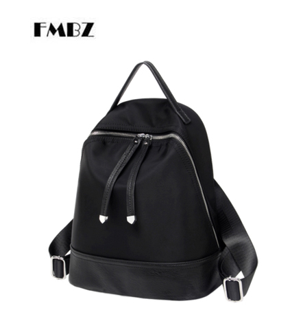 FMBZ Women's Bag 2018 New Trendy Wild Backpack Fashion Casual Travel Oxford Canvas Woman backpack Light Free Shipping цена 2017