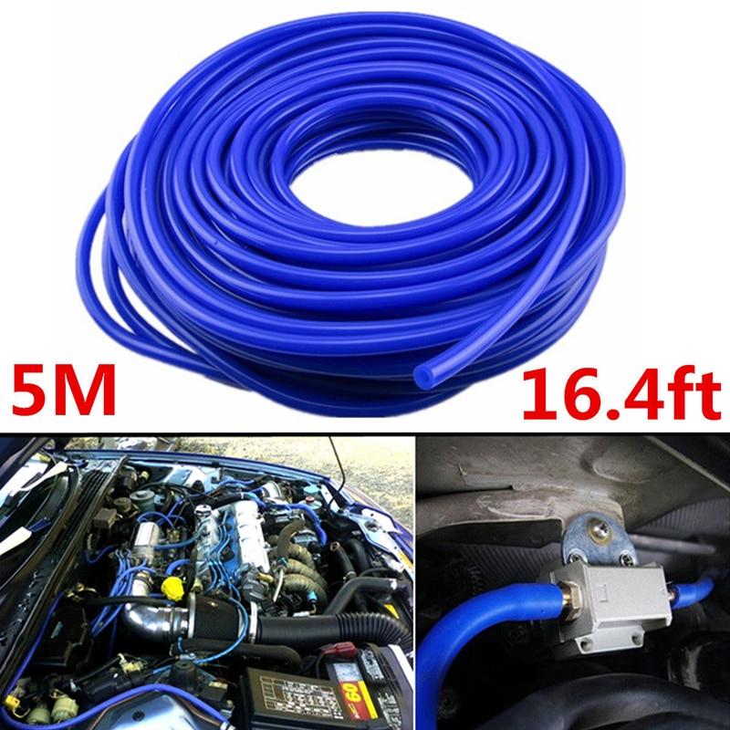 1pc 5M ID 4mm Blue Universal Car Vehicle Silicone Hose Tubing Auto Vacuum Tube Hose Pipe