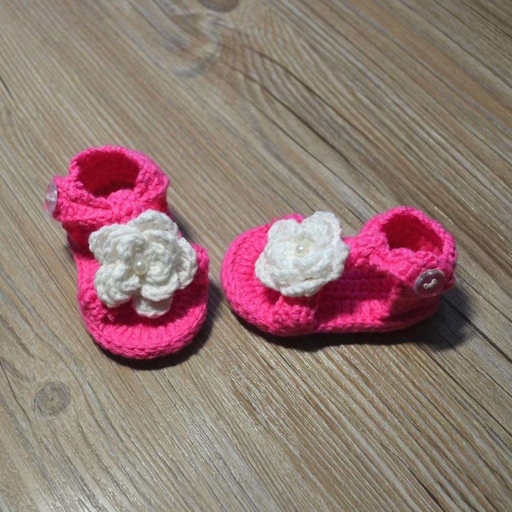 QYFLYXUE-Gehaakte babyschoenen, gehaakte baby slofjes, Baby ballerina - Baby schoentjes - Foto 6