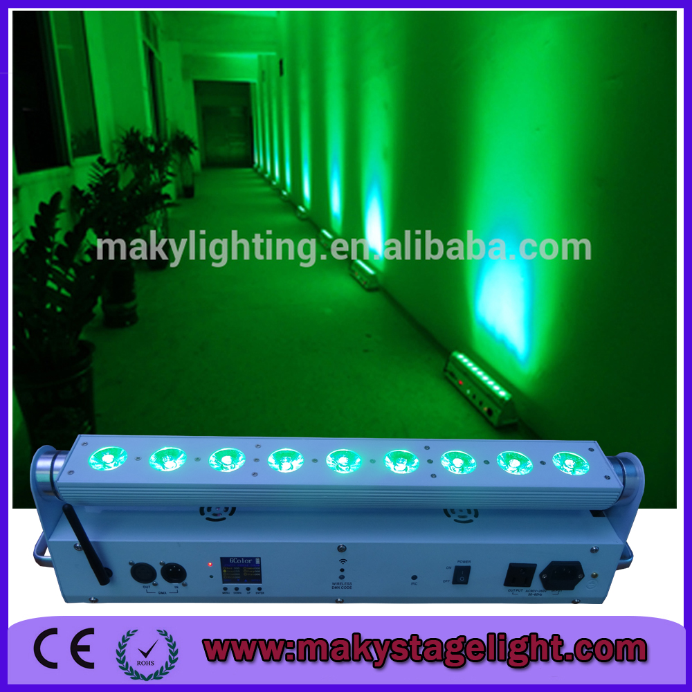 Free shipping sample order new with remote lcd display battery free shipping sample order new with remote lcd display battery operated wall wash lighting fixture 9x18w rgbwauv bar uplights in professional lighting arubaitofo Gallery