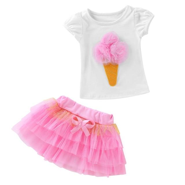 Toddler Girls Summer Clothing Set 2pcs Kids Clothes Baby Short