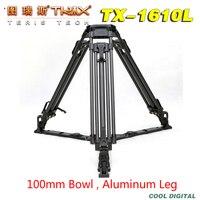 TRIX Teriş TX-1610L 100mm kase Alüminyum Video Kamera Tripod için TILTA Rig Kırmızı Scarlet Epic FS700