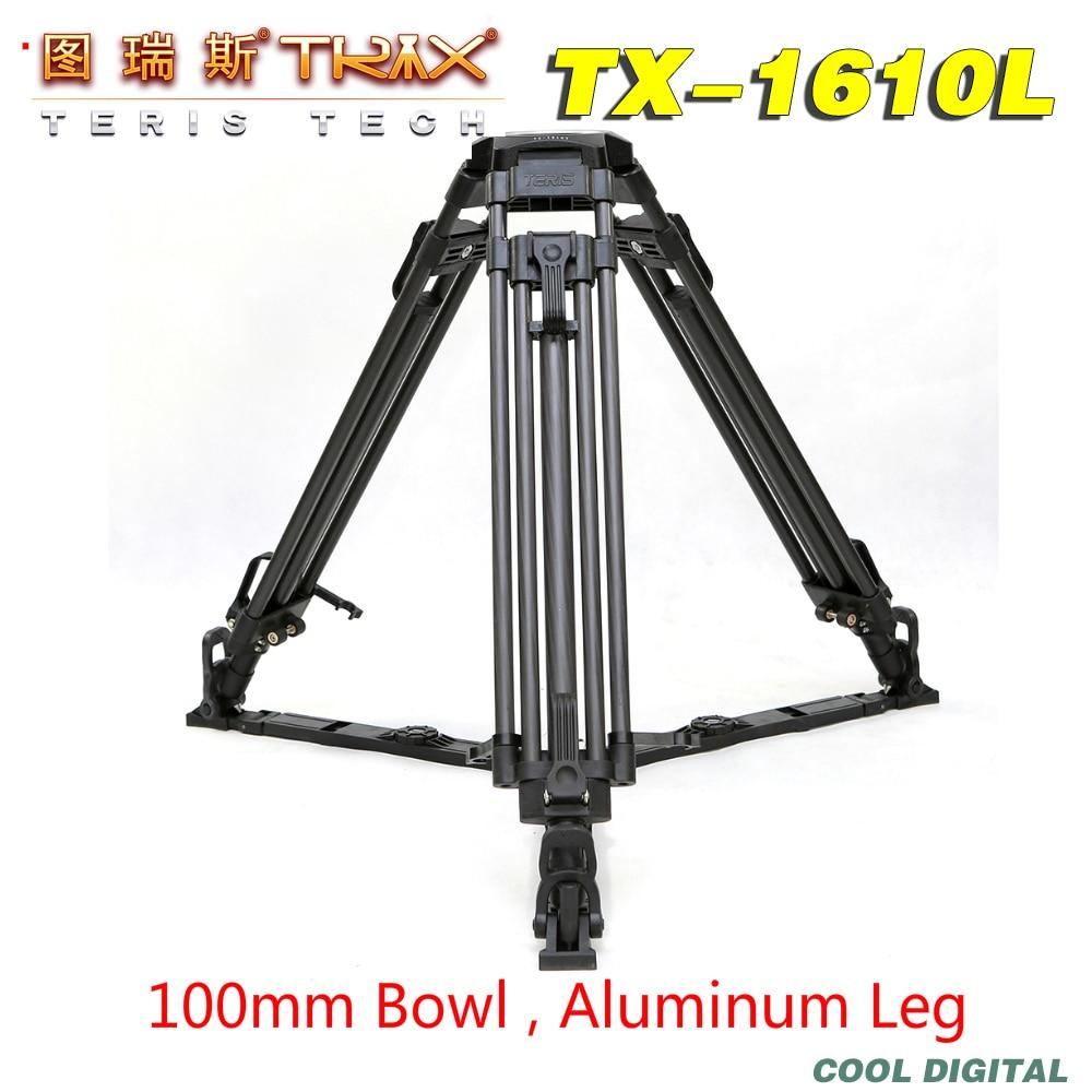 TRIX Teris TX-1610L 100mm ciotola di Alluminio Video Treppiedi di Macchina Fotografica per TILTA Rig Red Scarlet Epic FS700