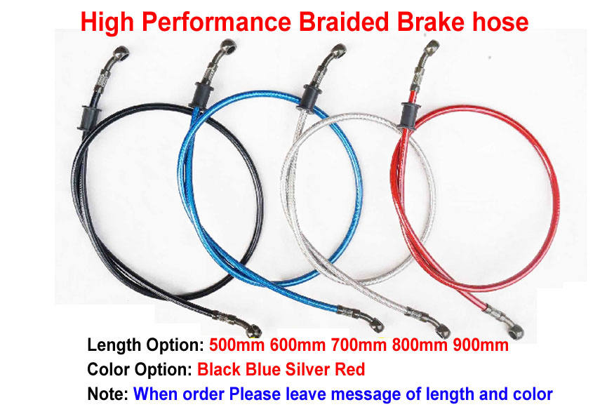 500mm 600mm 700mm 800mm 900mm Colorful Motorcycle Hydraulic Reinforced Brake Or Clutch Oil Hose Line Pipe Fit ATV Dirt Pit Bike france vandoren cm318 m30 bb clarinet mouthpiece clarinet sib bb mouthpiece