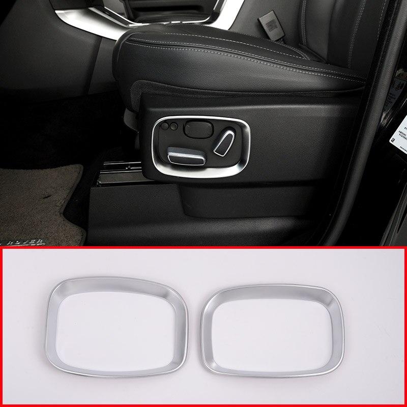 2pcs ABS Car Side Seat Adjustment Frame Trim For Land