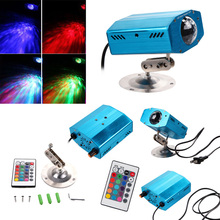 Remote RGB LED Water Wave Ripple Effect Stage Light disco dj US plug