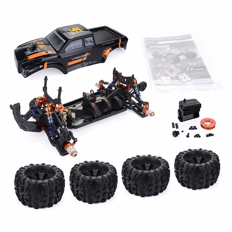 ZD Balap MT8 Pirates3 1/8 4WD 90Km/Jam Brushless RC Car Kit Tanpa Suku Cadang Elektronik Remote Control Anak-anak Mobil RC mainan