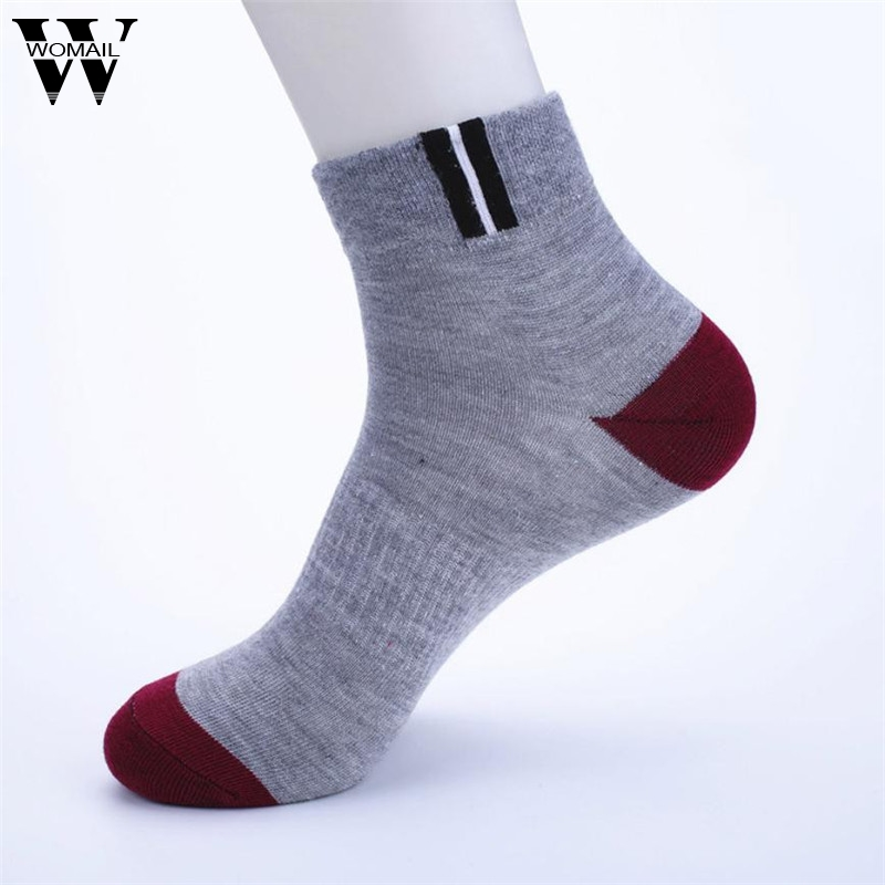 Spring Summer Fashion Casual Comfort Ankle Socks Men Cotton Splice Sock Cotton Ankle Socks Business Mens Short Sock