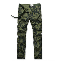 Men S Multi Pocket Camo Pants Fashion Men Cotton Casual Camouflage Military Cargo Pants Tactical Army