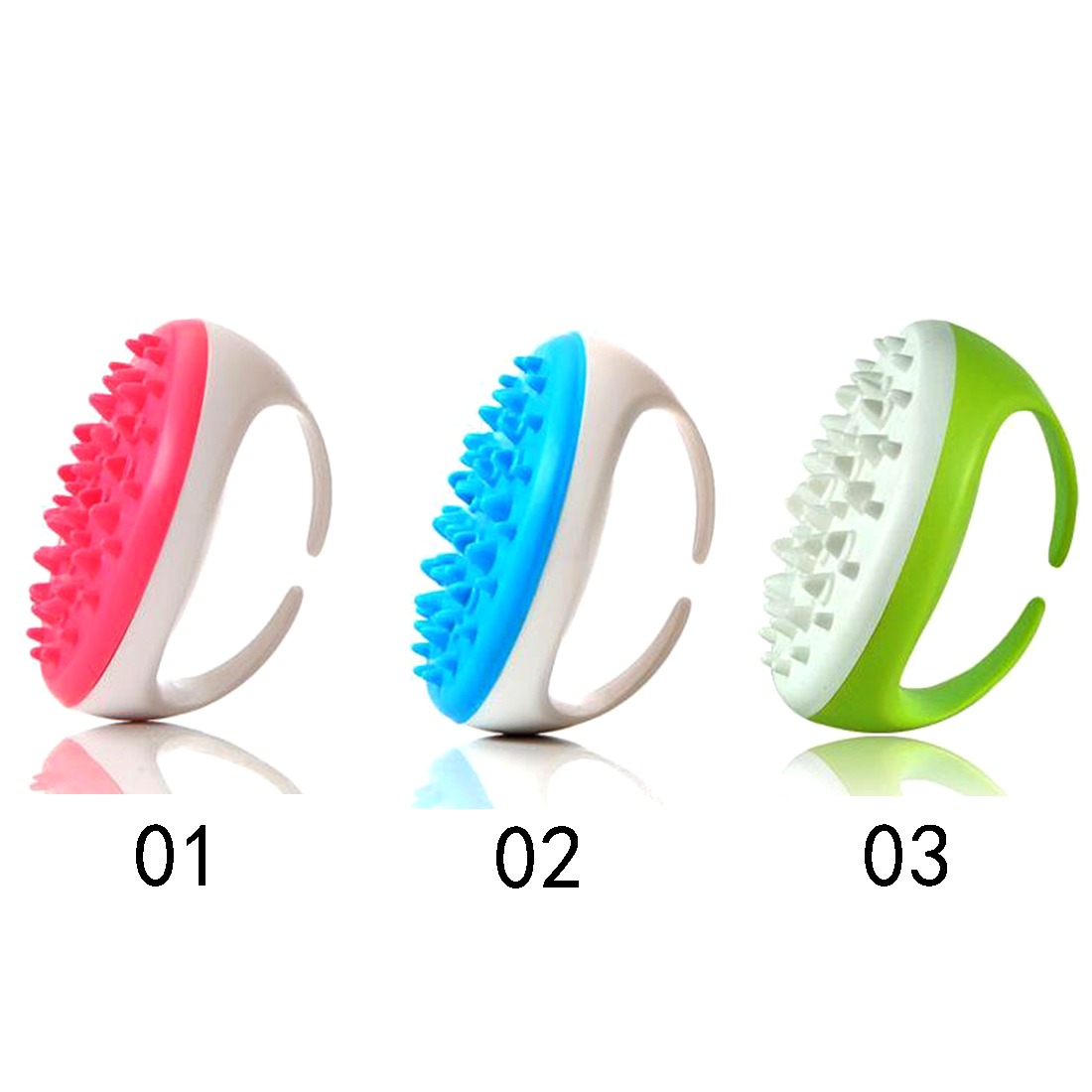 New Arrival Soft Handheld Bath Brush Shower Anti Cellulite Full Body Massage Glove Slimming Relaxing Scrub Massager Bath Spa