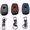 Real Leather Smart Remote Key Case Cover Holder Key Chain Cover Remote For BMW 1 3 5 6 7 Series X1 X3 X4 X5 X6 Black Red Blue