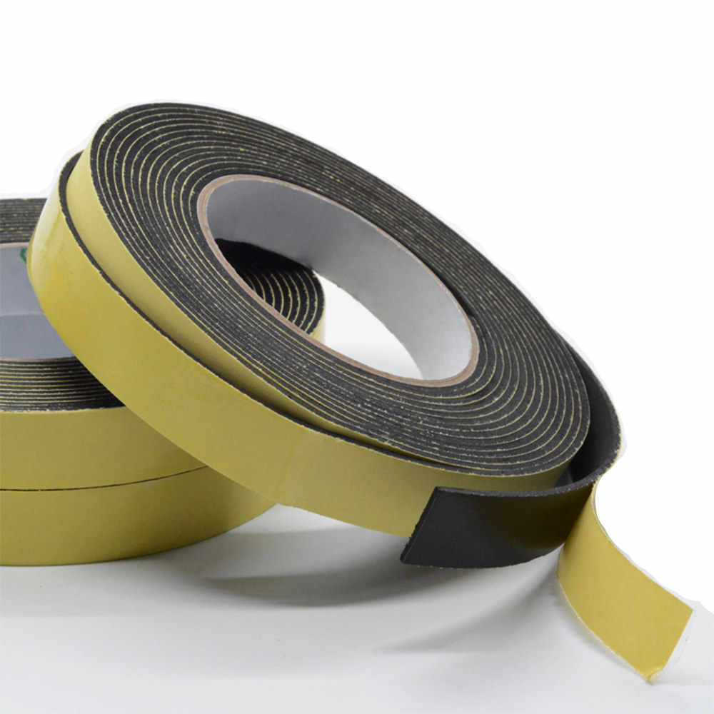 1roll EVA foam sponge shockproof anti-collision single-sided adhesive tape sealing strip 3mm thick 5m long shipping