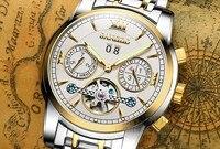 42mm Sangdo Luxo relógios Auto-Vento Automático de Cristal de Safira movimento Mecânico de Alta qualidade relógio de Pulso dos homens 0009