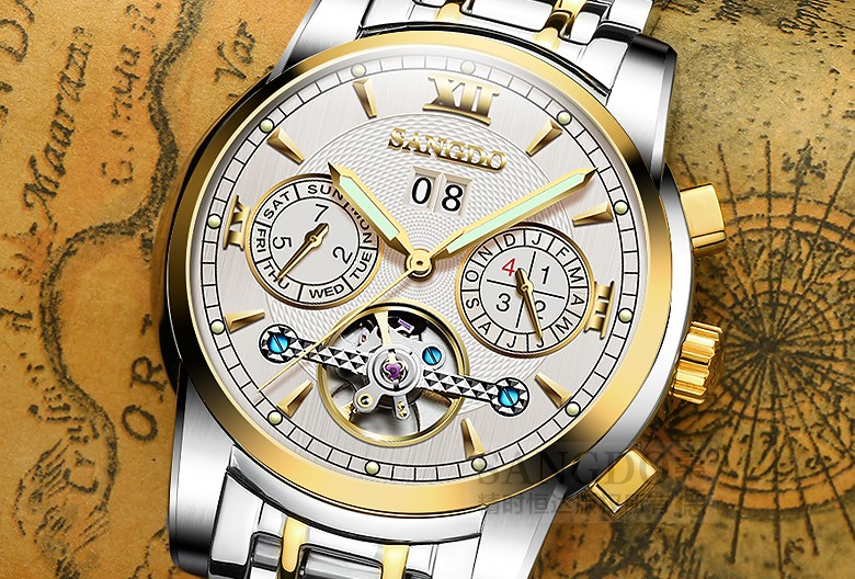 42mm Sangdo Luxury watches Automatic Self-Wind movement Sapphire Crystal High quality Mechanical Wristwatches Men's watch 0009
