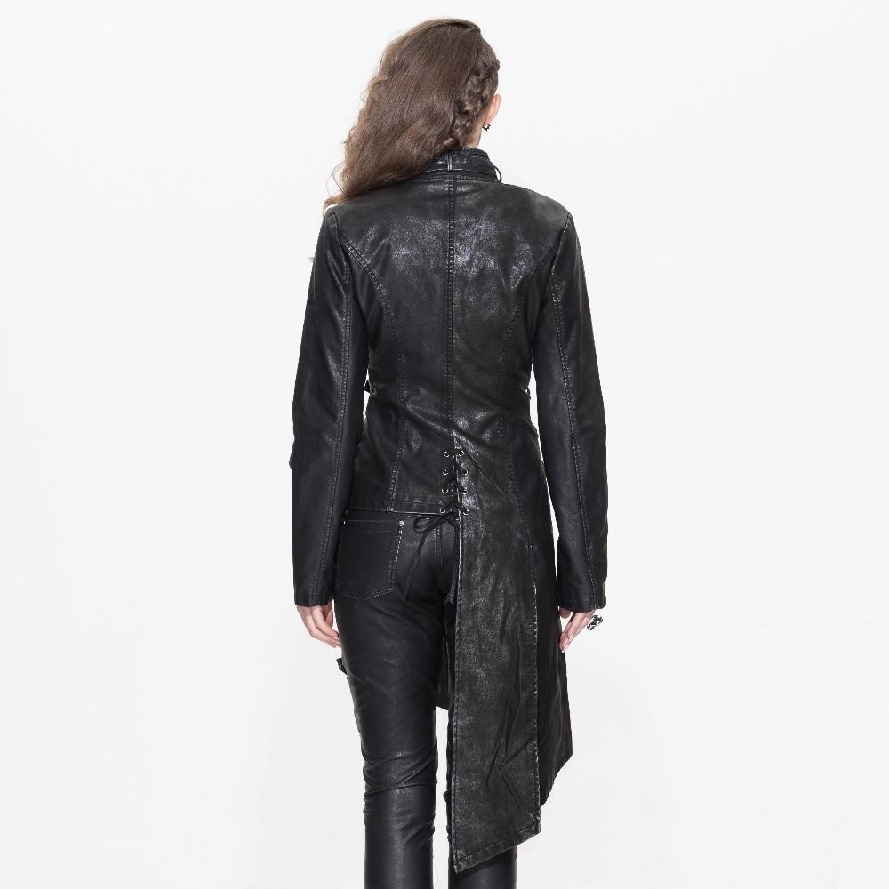 Devil Fashion Heavy Punk seksi asimetrične jakne od umjetne kože za - Ženska odjeća - Foto 3