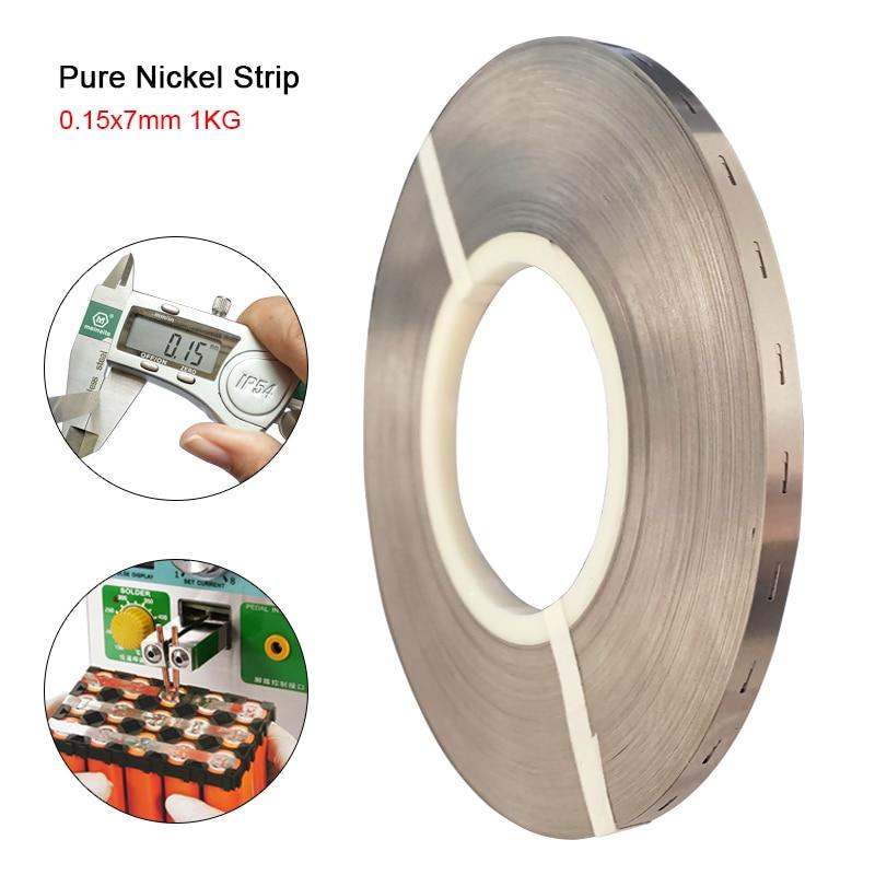 1KG Pure Nickel Strip 0 15 7mm Lithium Battery Pack Welding Nickel Belt For 18650 Batteries