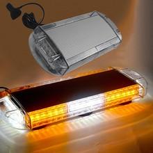цена на HEHEMM 48W LED Car Roof Strobe Lamp Magnetic Mounted Warning Light Bar for Emergency Vehicle 12V 24V