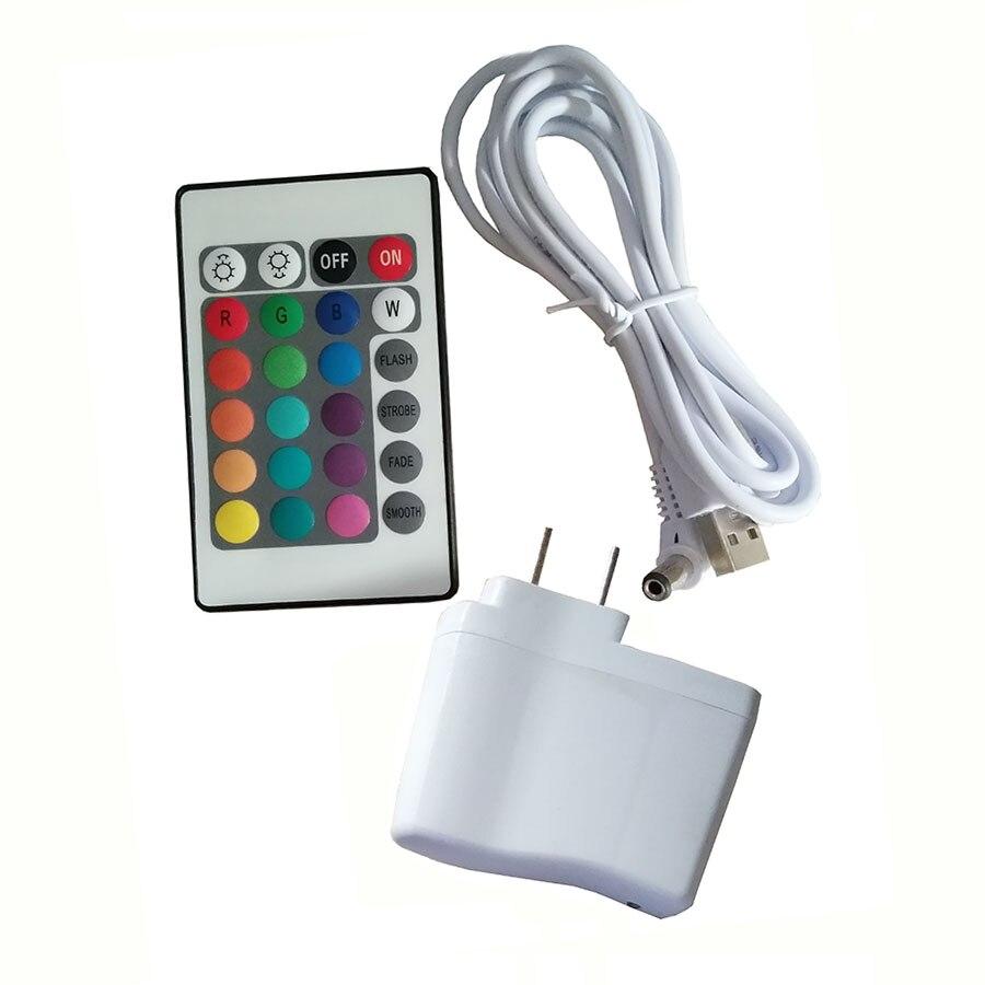 7 krāsu RGB LED peldošās maģiskās bumbiņas led apgaismojuma - Nakts gaismas - Foto 6
