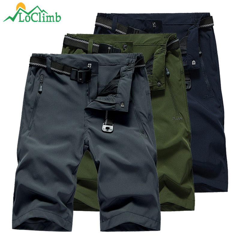 LoClimb Outdoor Hiking Shorts For Men Stretch Quick Dry Shorts Men's Sports Shorts Trekking/Fishing/Climbing/Running AM386