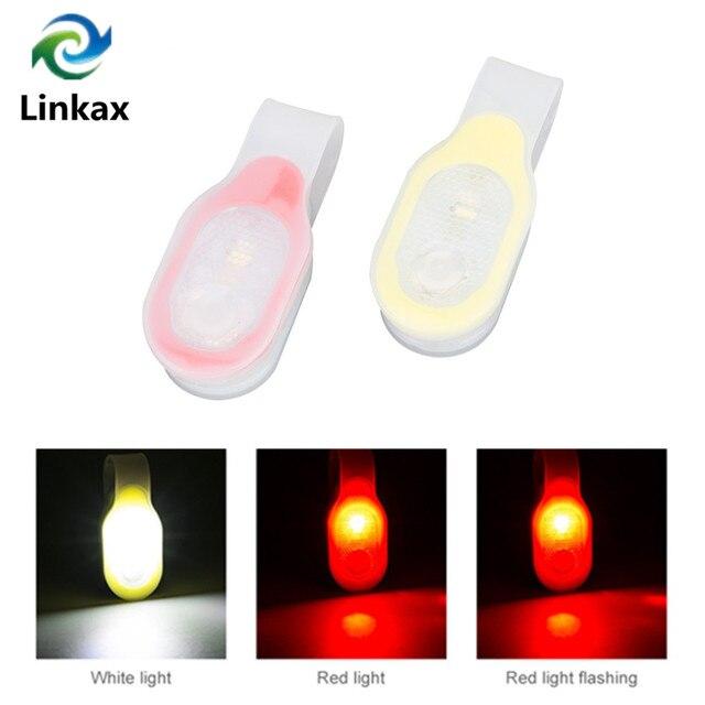 מיני גמיש Bendable מעיל צווארון כיס אור אדום בטיחות אור/לבן עבודת אור ידיים משלוח מנורת עם להחלפה 2xCR2032