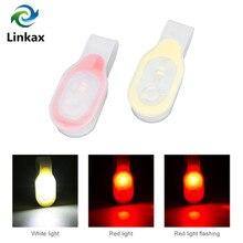 Lampe de travail mains libres, Mini collier Flexible pliable, lumière de poche rouge/blanc, lampe remplaçable 2xCR2032