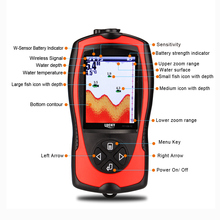 LUCKY FF1108-1CWLA 2-in-1 Fish Finder With LCD Wireless Sonar Transducer Depth Locator Ocean Boat Alarm Fish Detector De Pesca