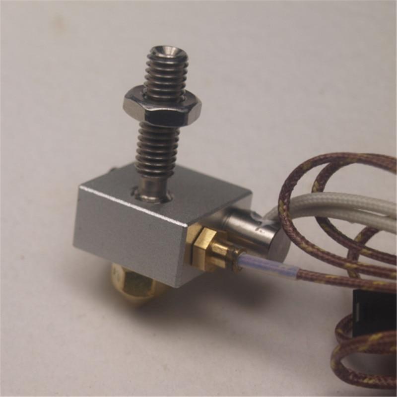 все цены на Replicator 2 3D printer Hot End Assembly kit/set Stranded +Thermocouple +heater cartridge PTFE tube inside онлайн