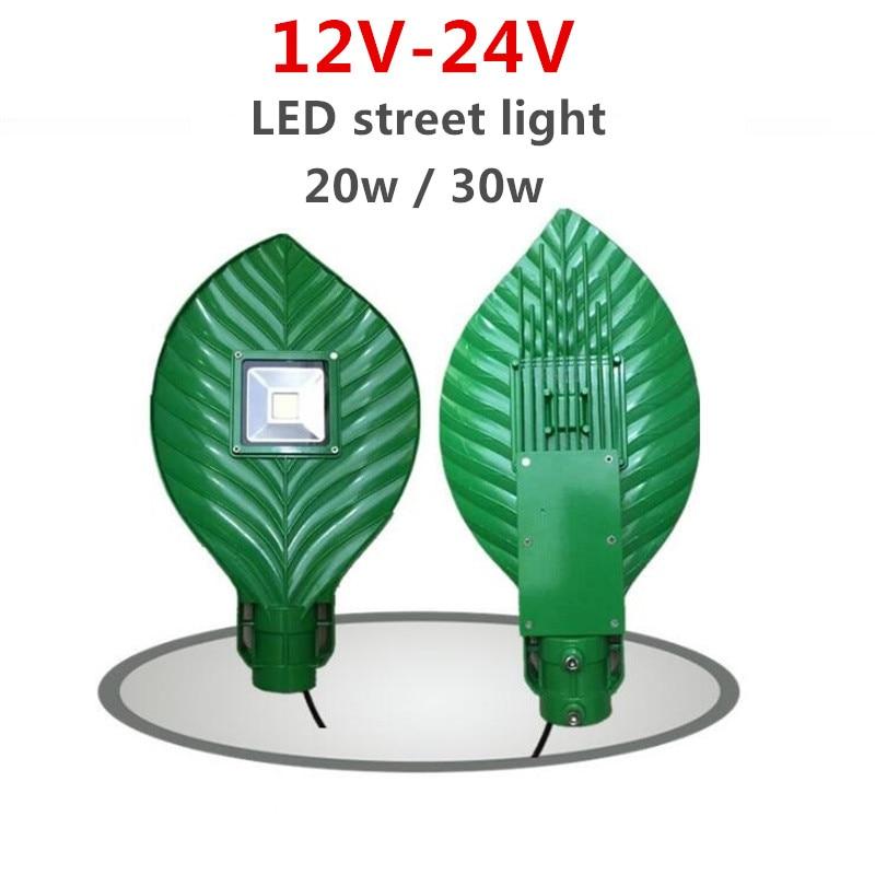 2018 New design 110Lm/W 20w 30w 12V-24V leaves street lamp Aluminum shell IP65 Outdoor led street lights Garden Lamp автоинструменты new design autocom cdp 2014 2 3in1 led ds150