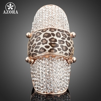 Nails Sequins Style 18K Real Gold GP SWA ELEMENTS Austrian Crystal Elegant Lady S Ring FREE