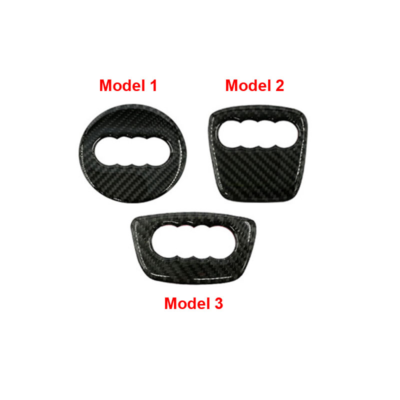 Carbon Fiber Auto Steering Wheel Sticker Logo Overlay Trim Fit For Audi A3 A4 A6 A1 A7 Q5 Q7 S4 TT Audi Accessories