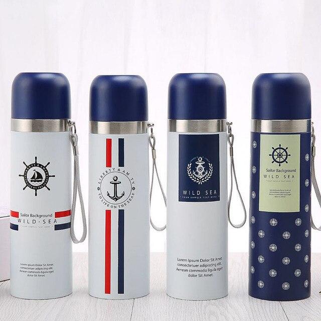 c6917abc51 Cute Tea Thermos Bottle 500ml 16oz Stainless Steel Vacuum Flask Insulated  Thermal Cup Garrafa Termica Travel Coffee Mug 25Colour