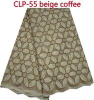 Nowy mody 100% bawełna afryki koronki tkaniny, najwyższej jakości szwajcarski woal koronki dla kobiet strój! clp-55