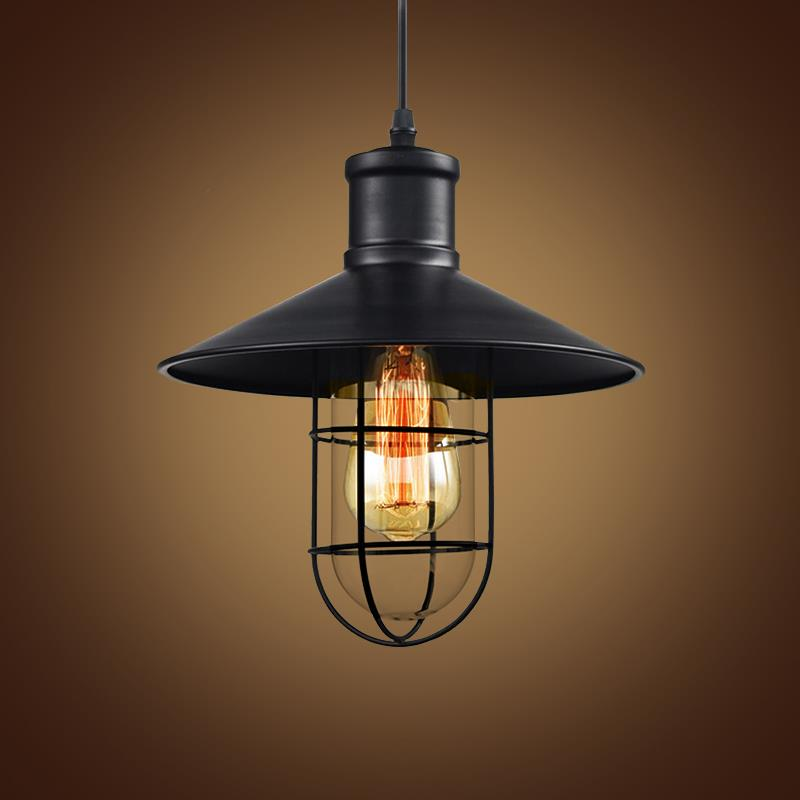 Loft work light design house work lamp vintage pendant  : Vintage Iron Pendant Light Loft Industrial Lighting Glass Guard Design Cage Pendant Lamp Hanging Lights E27 from www.top-of-clinics.ru size 800 x 800 jpeg 31kB