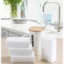 купить 10PCS Melamine Sponge Magic Sponge Eraser Melamine Cleaner Eco-Friendly White Kitchen Magic Eraser 10*6*2cm дешево