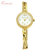 2018 New Kimio Luxury Top Brand   Watches     Women's     Bracelet     Watches   Quartz Lady Dress Wristwatches Clock.Reloj
