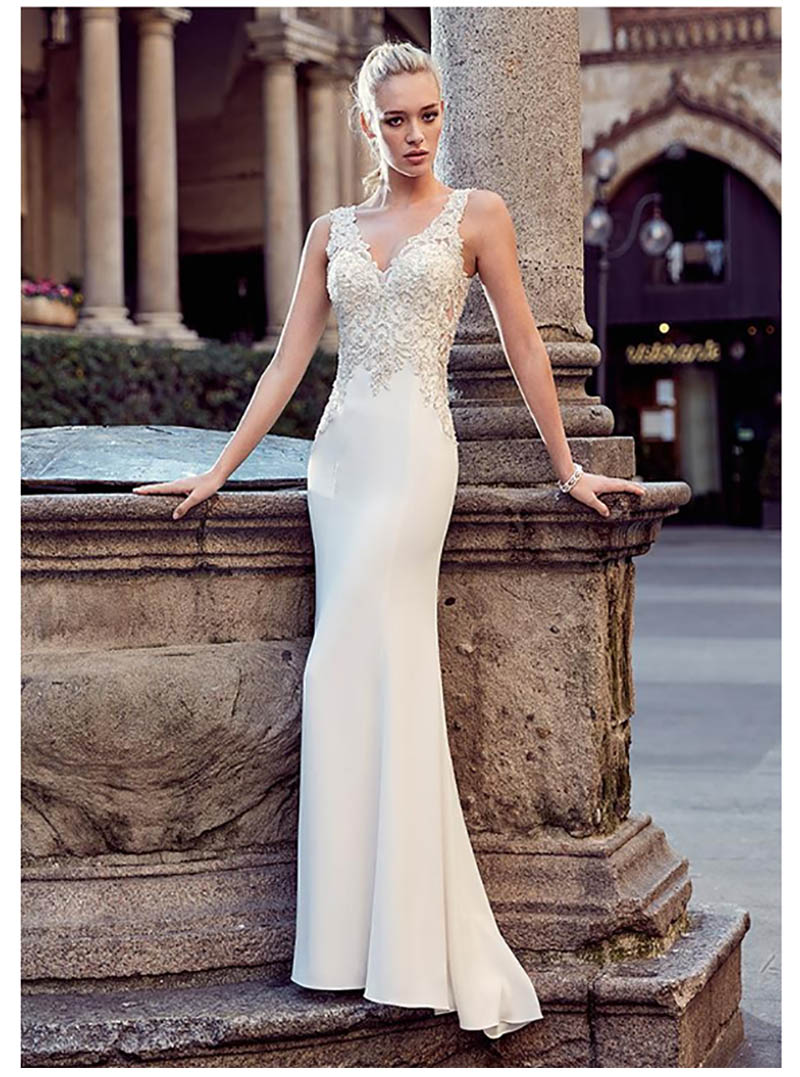 Snileven Mermaid Wedding Dress Beaded Crystal Lorie 2019 Lace Appliques Sexy Style Boho Bridal Gowns Wedding Gowns
