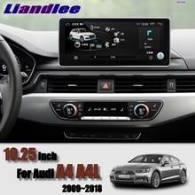 Liandlee Car Multimedia Player NAVI 10.25 inch For Audi A4 A4L B9 8W 2016~2018 Original car style Radio Stereo GPS Navigation